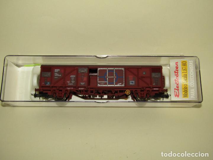 Trenes Escala: Antiguo Vagón Cerrado Gbs TRANSFESA Rojo Óxido en Escala *H0* Ref. 1460K de ELECTROTREN - Foto 2 - 257521740