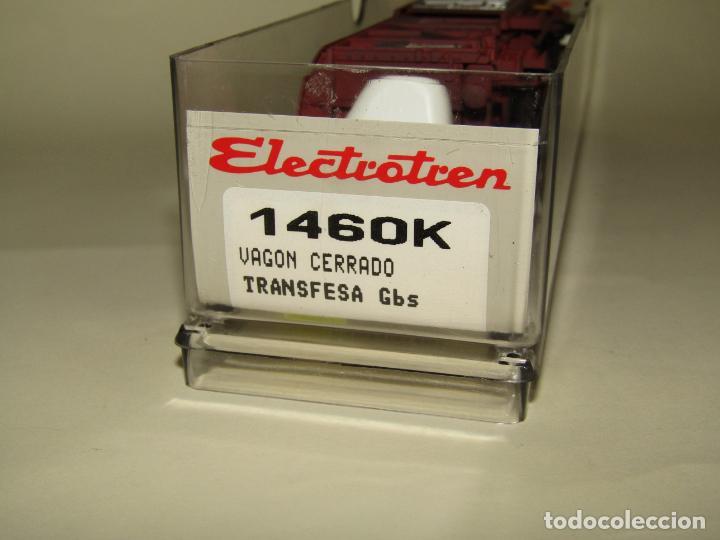 Trenes Escala: Antiguo Vagón Cerrado Gbs TRANSFESA Rojo Óxido en Escala *H0* Ref. 1460K de ELECTROTREN - Foto 3 - 257521740