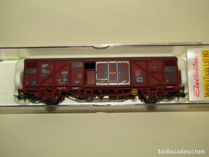 Trenes Escala: Antiguo Vagón Cerrado Gbs TRANSFESA Rojo Óxido en Escala *H0* Ref. 1460K de ELECTROTREN - Foto 5 - 257521740