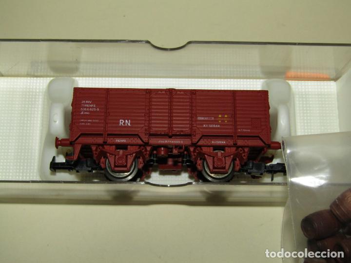 Trenes Escala: Antiguo Vagón Borde Alto RENFE con 21 Barriles Toneles en Escala *H0* Ref. 1922 de ELECTROTREN - Foto 5 - 257527730