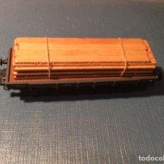 Trenes Escala: ELECTROTREN. FURGÓN DE CARGA CON CARGA DE MADERA.. Lote 257798335