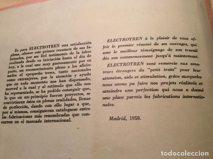 Trenes Escala: Catálogo de Electrotren. Año 1958 - Foto 3 - 257805750