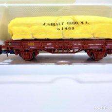 Trenes Escala: VAGON PLATAFORMA RENFE CON SACOS. Lote 261254225