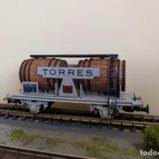 Trenes Escala: ELECTROTREN H0 VAGÓN-CUBAS, DE VINOS TORRES, REFERENCIA 0820 (EDICIÓN LIMITADA).. Lote 263079855