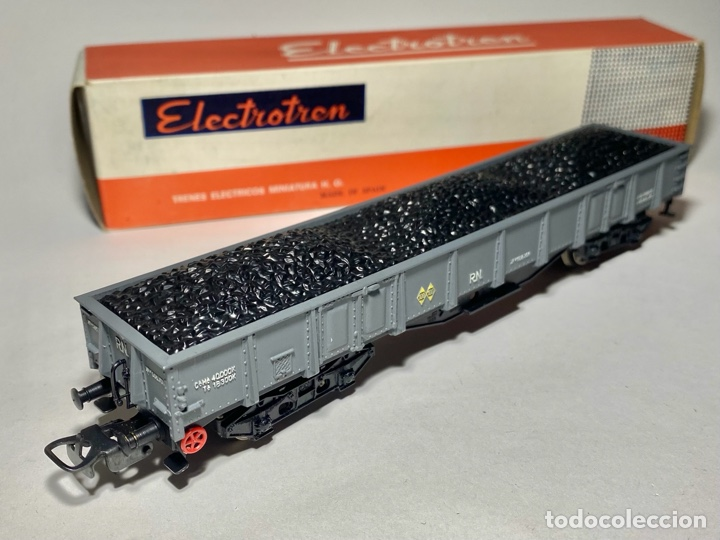 ELECTROTREN 5152 VAGÓN RENFE CON CARGA DE CARBÓN B (Juguetes - Trenes Escala H0 - Electrotren)