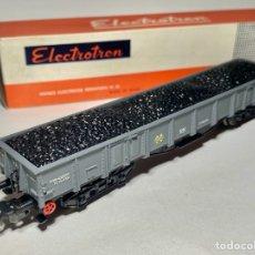 Trenes Escala: ELECTROTREN 5152 VAGÓN RENFE CON CARGA DE CARBÓN B. Lote 264264868