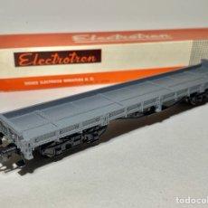 Trenes Escala: ELECTROTREN 5122 VAGÓN PLATAFORMA RENFE 4 EJES GRIS. Lote 264453974