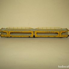 Trains Échelle: ANTIGUO VAGÓN DOBLE TRANSPORTE DE AUTOMÓVILES SEMAT RENFE ESCALA *H0* REF. 6001 DE ELECTROTREN. Lote 265490154