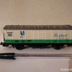 Trenes Escala: VAGON CARGA ELECTROTREN H0 YOPLAIT - RENFE ESPAÑA - LA FLOR DEL YOGUR. Lote 267411614