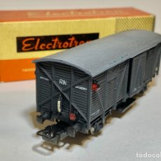 Trenes Escala: ELECTROTREN VAGÓN CERRADO DE RENFE CON LUCES DE COLA. Lote 267556319
