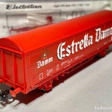 """Trenes Escala: ELECTROTREN 1753K VAGÓN CERRADO JPD RENFE """"ESTRELLA DAMM"""". Lote 267564729"""