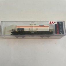 Trenes Escala: ELECTROTREN. HO REF 5816K CISTERNA BOGIES TRANSFESA. Lote 267658384