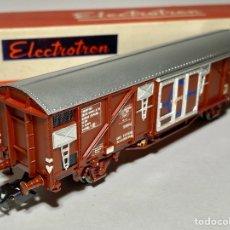 Trenes Escala: ELECTROTREN 1450 VAGÓN CERRADO TRANSFESA. Lote 268163919
