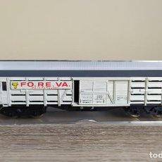 Comboios Escala: ELECTROTREN H0 VAGÓN JAULA DE BOGÍES PARA PEQUEÑO GANADO, DE FO.RE.VA. , REFERENCIA 5101.. Lote 269029129