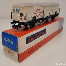 """Trenes Escala: ELECTROTREN H0 1470- VAGÓN FRIGORÍFICO """"TRANSFESA"""" FS. Lote 269268373"""