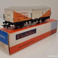 """Trenes Escala: ELECTROTREN H0 1471- VAGÓN FRIGORÍFICO """"INDUSTRIAS CÁRNICAS ORENSE"""" RENFE. Lote 269269248"""