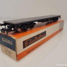 Trenes Escala: ELECTROTREN H0 5120- VAGÓN MERCANCÍAS PLATAFORMA 4 EJES RENFE. Lote 269272393