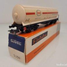 Trenes Escala: ELECTROTREN H0 5300- VAGÓN MERCANCÍAS CISTERNA ESSO TRANSPORTE AMONIACO RENFE. Lote 269275963