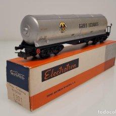 """Trenes Escala: ELECTROTREN H0 5301- VAGÓN MERCANCÍAS CISTERNA """"GASES LICUADOS"""" BUTANO SA RENFE. Lote 269276313"""