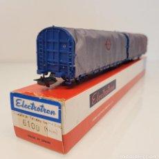 """Trenes Escala: ELECTROTREN H0 6100- VAGÓN MERCANCÍAS ARTICULADO TOLDOS """"TRANSFESA"""" SNCF. Lote 269277018"""