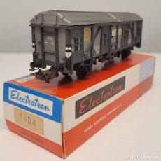 """Trenes Escala: ELECTROTREN H0 1404- VAGÓN CERRADO """"ABONOS CM"""" RENFE. Lote 270125288"""