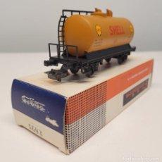 "Trenes Escala: ELECTROTREN H0 1602- VAGÓN CISTERNA GRANDE ""SHELL"" RENFE. Lote 270136333"