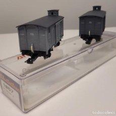 Trenes Escala: ELECTROTREN H0 1857- CONJUNTO VAGONES J, SERIE LIMITADA, A.F.B. RENFE, NUEVO. Lote 270138648