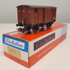 Trenes Escala: ELECTROTREN H0 805- VAGÓN CERRADO UNIFICADO 2 PUERTAS RENFE. Lote 270206798
