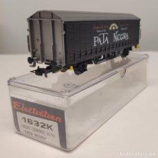 """Trenes Escala: ELECTROTREN H0 1632K- VAGÓN CERRADO HINS """"PATA NEGRA"""" , RENFE. Lote 270211453"""