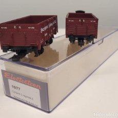 "Trenes Escala: ELECTROTREN H0 1977- CONJUNTO DOS VAGONES X ""BODEGAS BILBAÍNAS"", RENFE. Lote 270212313"