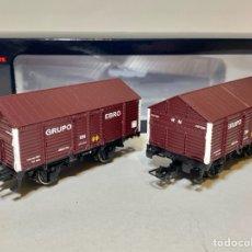 Trenes Escala: ELECTROTREN E19036 SET DE 2 VAGONES PX GRUPO EBRO. Lote 271441948