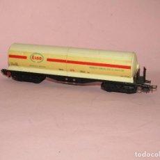 Trenes Escala: VAGÓN CISTERNA 4 EJES PRODUCTOS QUÍMICOS ESSO S.A. CASTELLÓN REF. 5300 EN ESCALA *H0* DE ELECTROTREN. Lote 272567573