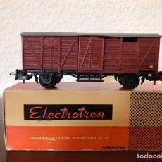 Comboios Escala: ELECTROTREN VAGÓN CERRADO CON CAJA AÑOS 60'. Lote 272901823
