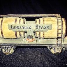 Trains Échelle: ELECTROTREN. VAGÓN TREN GONZÁLEZ Y BYASS, JEREZ, 2 CUBAS, ESCALA H0, AÑOS 70.. Lote 273548413