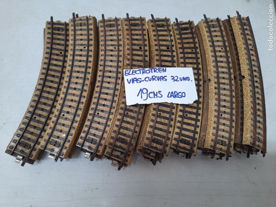 Trenes Escala: ELECTROTREN TIPO MARKLIN HO LOTE VARIADO CRUCES VIAS CURVAS - Foto 3 - 274692473