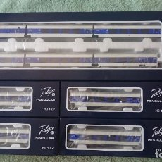 Trains Échelle: TALGO PENDULAR LARGO RECORRIDO + 4 COCHES ADICIONALES, LUZ DE COLA H0. Lote 275892908