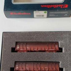 Trenes Escala: ELECTROTREN LOTE DE TRES VAGONES EALOS ENVEJECIDOS REF: 6509 ESCALA H0. Lote 278534353