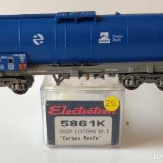 Trenes Escala: ELECTROTREN VAGON CISTERNA RENFE REF: 5861 ESCALA H0. Lote 278534913