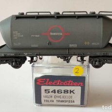 Comboios Escala: ELECTROTREN VAGON TOLVA ENVEJECIDA TRANSFESA RENFE REF: 5468 ESCALA H0. Lote 278549513
