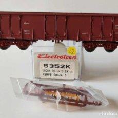 Comboios Escala: ELECTROTREN VAGON ABIERTO EALOS RENFE REF: 5352 ESCALA H0. Lote 278801723