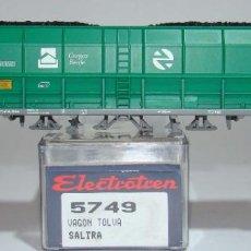 Trenes Escala: ELECTROTREN VAGON TOLVA CARGAS RENFE CON CARBON ESCALA H0. Lote 278811778