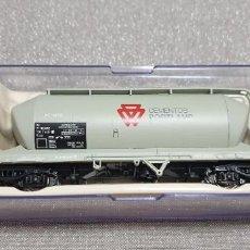 """Trenes Escala: ELECTROTREN VAGÓN TOLVA DE CEMENTOS """"PORTLAND"""" RENFE 4 EJES H0. REF.5480K. NUEVO A ESTRENAR. Lote 279517503"""