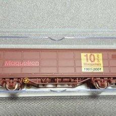 Trenes Escala: ELECTROTREN VAGÓN CERRADO CONMEMORATIVO 10 AÑOS REVISTA MAQUETREN H0. REF.1758K. NUEVO A ESTRENAR. Lote 279524228