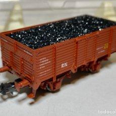 Trenes Escala: ELECTROTREN VAGÓN RENFE UNIFICADO BORDES ALTOS CARBÓN. Lote 283795333