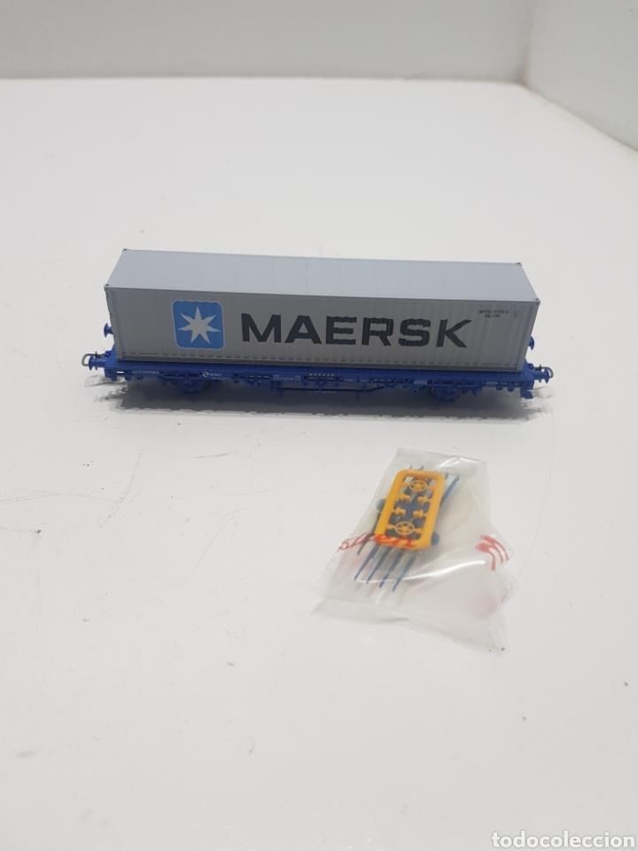 VAGON MAERSK ELECTROTREN HO (Juguetes - Trenes Escala H0 - Electrotren)