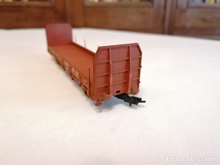 Trenes Escala: Electrotren H0 Vagón Carga Transfesa Renfe Perfecto Estado - Foto 2 - 287619523