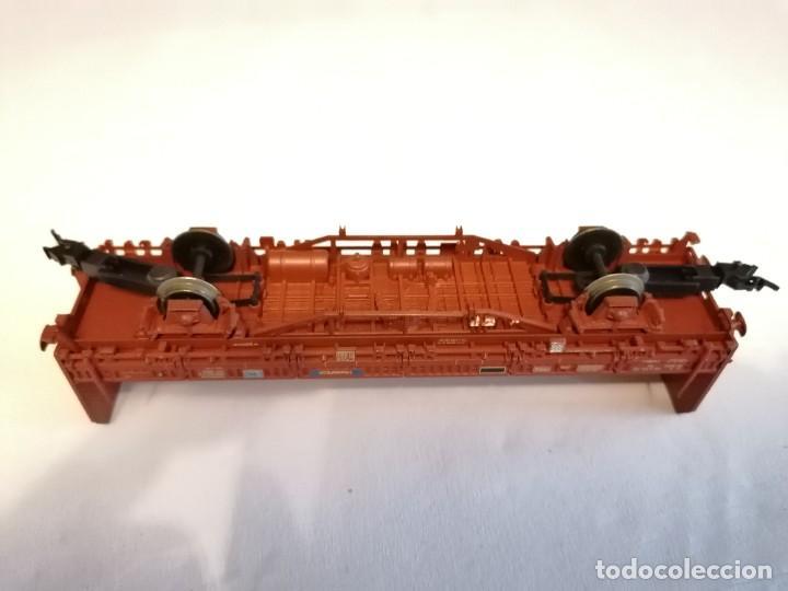 Trenes Escala: Electrotren H0 Vagón Carga Transfesa Renfe Perfecto Estado - Foto 6 - 287619523