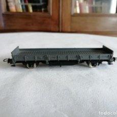 Trenes Escala: ELECTROTREN H0 VAGÓN DE BORDE BAJO RENFE PERFECTO ESTADO. Lote 287619613