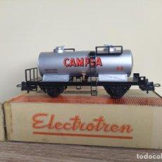 Trenes Escala: ELECTROTREN H0 VAGÓN MEDIANA CISTERNA, DE CAMPSA RENFE, REFERENCIA 1107/2 (1701).. Lote 287653048