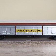 Trenes Escala: ELECTROTREN H0 VAGÓN DE PORTONES CORREDIZOS, DE LA DEUTSCHE POST DB, REFERENCIA 5512.. Lote 287929853